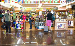 Shops with souvenirs in an airport Costa Rica Royalty Free Stock Image