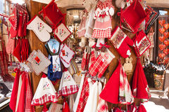 Shops with souvenirs in Alsace, Stock Image