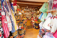 Shops with souvenirs in Alsace, Stock Photo