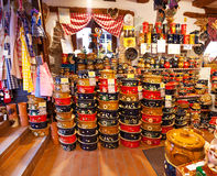 Shops with souvenirs in Alsace, Stock Images