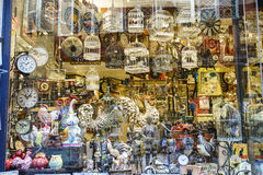 Shops with souvenirs in Colmar, Alsace, France Royalty Free Stock Photography
