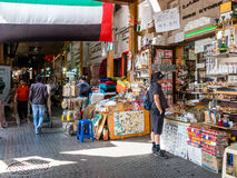 Shops in spice souk in Deira district of Dubai Stock Images