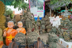 Shops statues Stock Image