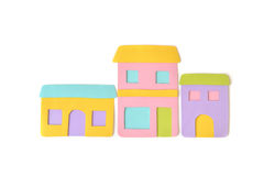 Shops and stores paper cut on white background. Isolated Royalty Free Stock Images