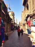 Shops on street in Cairo. Egypt Cairo shot Royalty Free Stock Photo