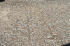 Biblical Ephesus Shops. These are shops and terrace homes in historic Ephesus. These shops have beautiful mosaic flooring. St Paul visited, conducted business royalty free stock photography