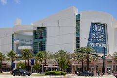 Shops at 5th and Alton. Miami Beach - June 19: Image of the shops at 5th street and Alton Road including big box retailers such as Best Buy and Ross June 19 Stock Photos