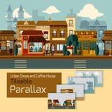 Shops Tileable Parallax Stock Photo