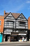 Shops in Tudor buildings, Tewkesbury. Royalty Free Stock Image