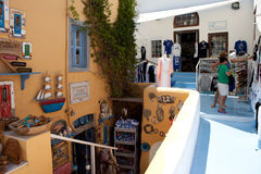shops in the village of Oia, Santorini Royalty Free Stock Photography