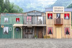 Shops of a wild west cowboy town Stock Photography