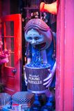 Shops windows display with magic objects in Diagon Alley from Harry Potter film. Warner Brothers Studio. UK Royalty Free Stock Image