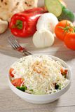 Shopska salad - also known as Bulgarian , Macedonian,Serbian; Bosnian and Croatian salad. Royalty Free Stock Images