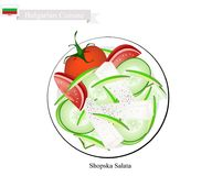 Shopska Salata, A Popular Dish of Bulgaria Royalty Free Stock Photo