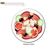 Shopska Salata, A Popular Dish of Bulgaria Stock Image