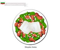 Shopska Salata, un plat populaire de la Bulgarie illustration libre de droits