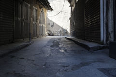 Shopstreet in the souks of Tripoli, Lebanon Royalty Free Stock Image