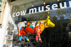 Shopwindow of Cow Museum in Amsterdam, the Netherlands Royalty Free Stock Photos