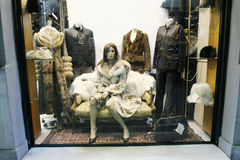 Shopwindow i Aten Arkivbild