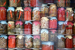 Shopwindow With Vegetables Stock Image