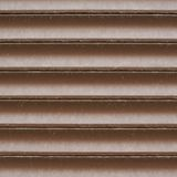 Shopwindow venetian brown plastic blinds Stock Photo