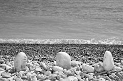 Shor θάλασσας χαλικιών στοκ εικόνες
