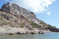Shore of the Aegean Sea Stock Image