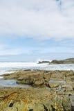 Shore of Atlantic ocean in Costa da Morte, Spain Stock Images