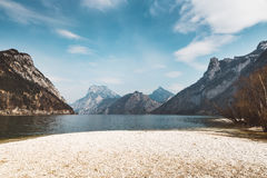 Shore of an austrian Lake Stock Images