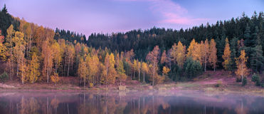 Shore during the autumn morning Royalty Free Stock Photography