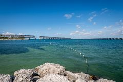 The shore of Bahia Honda State Beach stock image