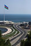 The shore of Baku Stock Image