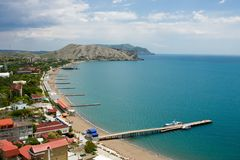 Shore of black sea Stock Photo