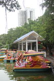 Shore of the boat in SHEKOU park Stock Image