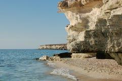 On the shore of the Caspian Sea. Caspian Sea in Kazakhstan. royalty free stock photo