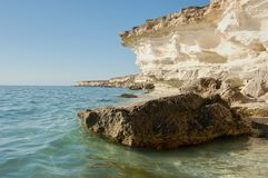 On the shore of the Caspian Sea. Caspian Sea in Kazakhstan. The Caspian Sea is the largest enclosed inland body of water on Earth by area, variously classed as royalty free stock photos