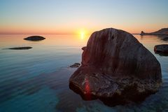 On the shore of the Caspian Sea. royalty free stock photos