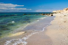 On the shore of the Caspian Sea. royalty free stock photography