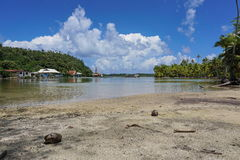 Shore channel French Polynesia Huahine island Royalty Free Stock Photography