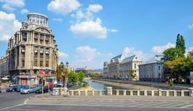 The Shore of Dambovita River. Bucharest, Romania. Visiting The Shore of Dambovita River Stock Photography