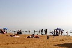 Shore of the Dead Sea - the sea of Sodom Stock Photography