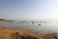 Shore of the Dead Sea - the sea of Sodom Royalty Free Stock Photo