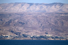Shore of the Dead Sea - the sea of Sodom Royalty Free Stock Images