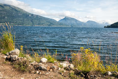 Shore of the fjord Royalty Free Stock Photos
