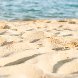 Shore, foamy wave in the summer day Royalty Free Stock Image