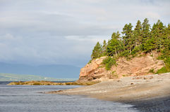 Shore of Forillon national park, Quebec stock image
