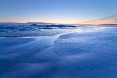 A cold blue winter morning Royalty Free Stock Photos