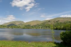 Shore of Grasmere. In the English Lake District Stock Photo