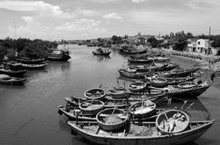 Shore and harbor in Vietnam Stock Image