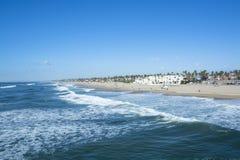 Shore of Huntington Beach Stock Photography